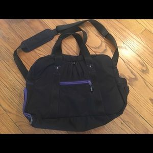 Athleta gym / overnight bag with shoe compartment